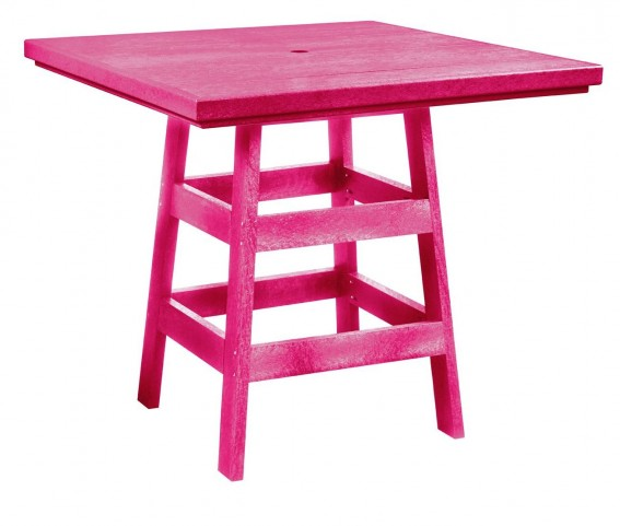 "Generation Fuschia 42"" Square Pub Table"
