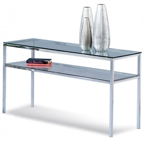 Patinoire Polished Chrome Entertainment Console