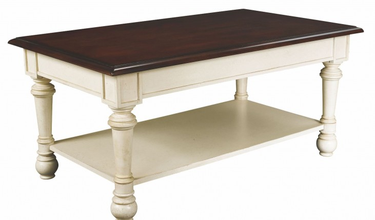 Promenade Antique Linen Rectangular Cocktail Table