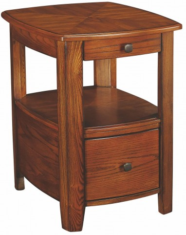 Primo Warm Medium Brown Chairside Table