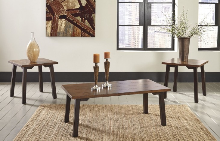 Latoon Browns 3 Piece Occasional Table Set