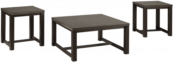 Joyla Black and Gray 3 Piece Occasional Table Set