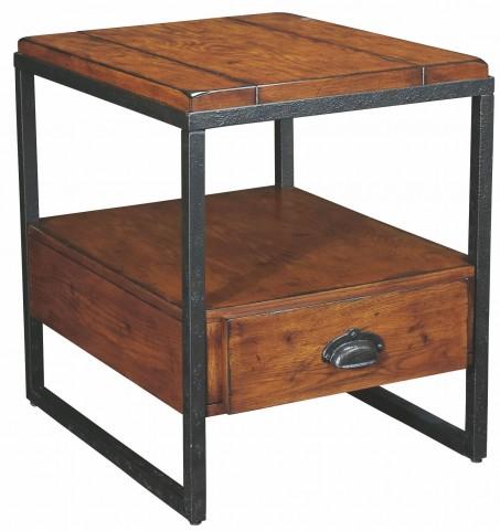 Baja Vintage Umber Rectangular Drawer End Table