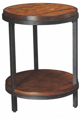 Baja Vintage Umber Round End Table