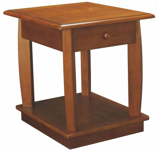 Ascend Medium Oak Rectangular Drawer End Table