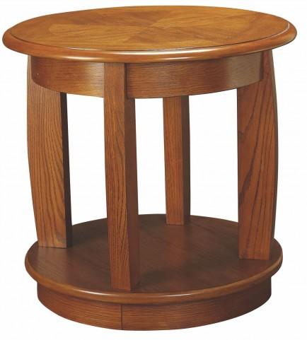 Ascend Medium Oak Round End Table