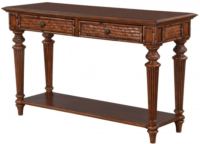 Antilles Warm Cognac Rectangular Sofa Table