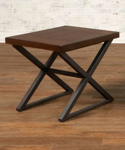 Crossing Rectangular End Table