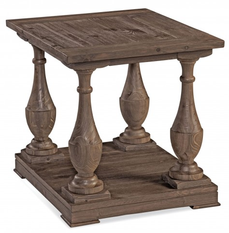 Hitchcock Smoked Barnwood Rectangular End Table