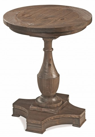 Hitchcock Smoked Barnwood Round End Table