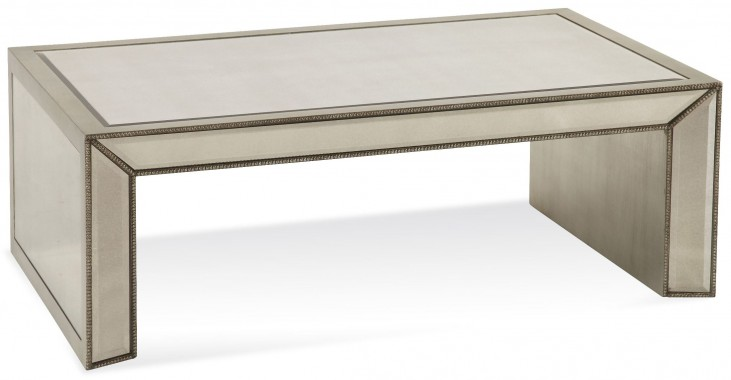 Murano Antique Mirrored Rectangular Cocktail Table