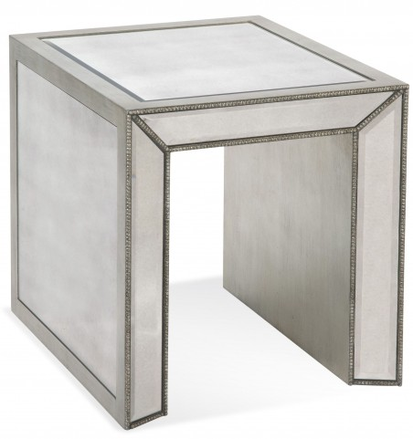 Murano Antique Mirrored Rectangular End Table