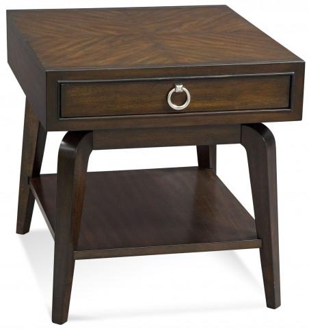 Omni Warm Brown Rectangular End Table