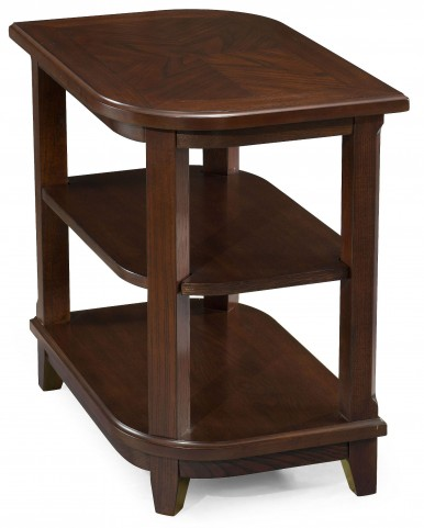 Madera Merlot Wood Rectangular Accent Table
