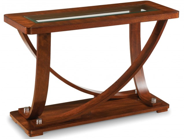Pavilion Medium Brown Wood Rectangular Sofa Table
