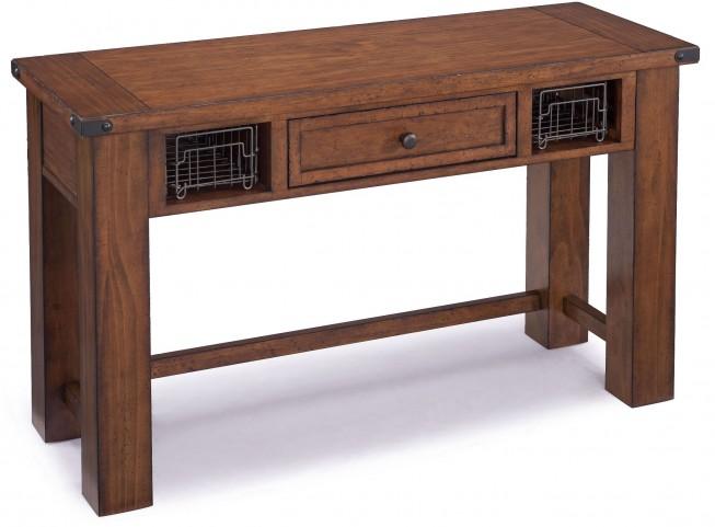 Parker Lane Distressed Natural Pine Rectangular Sofa Table