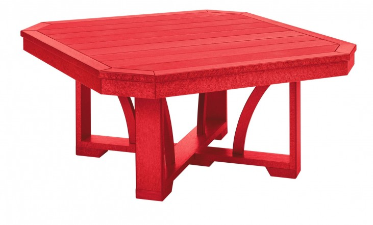 "St Tropez Red 35"" Square Cocktail Table"