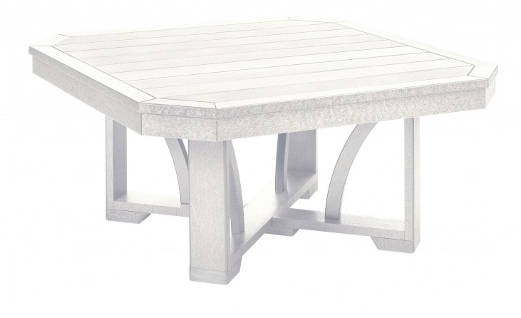 "St Tropez White 35"" Square Cocktail Table"