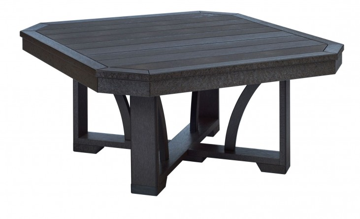 "St Tropez Black 35"" Square Cocktail Table"
