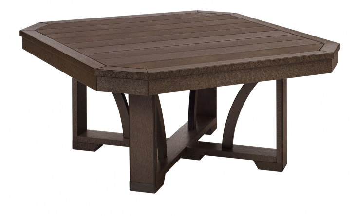 "St Tropez Chocolate 35"" Square Cocktail Table"