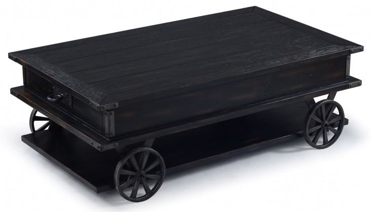 Sheffield Antique Black Rectangular Cocktail Table