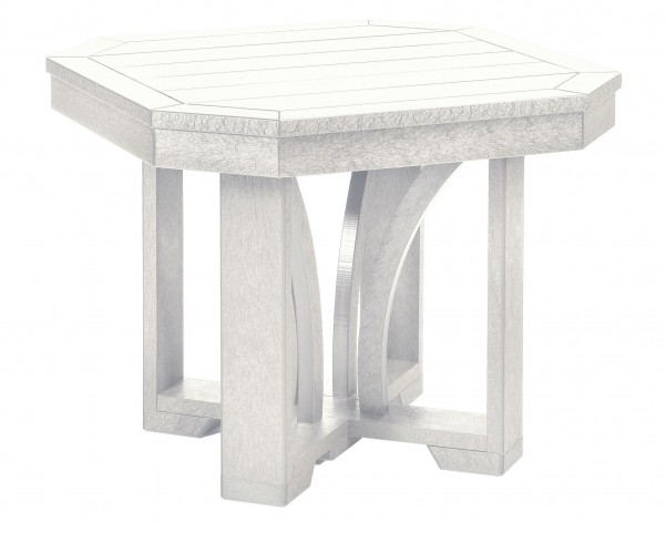 "St Tropez White 25"" Square End Table"
