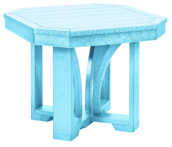 "St Tropez Aqua 25"" Square End Table"