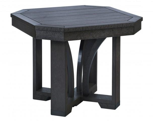 """St Tropez Black 25"""" Square End Table"""