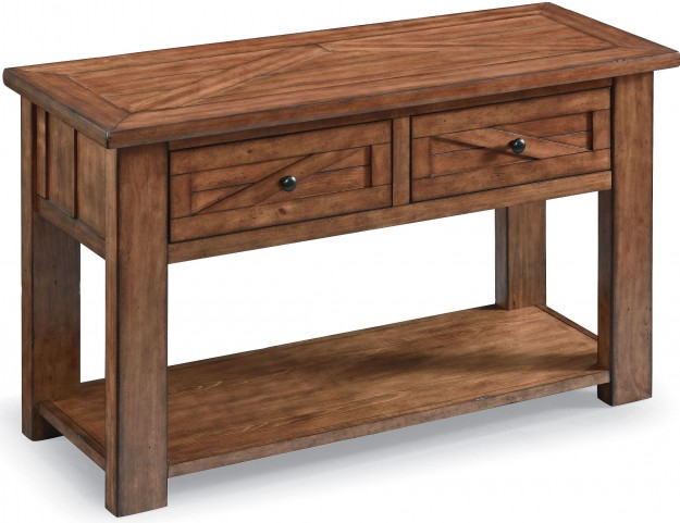 Harper Farm Warm Pine Rectangular Sofa Table