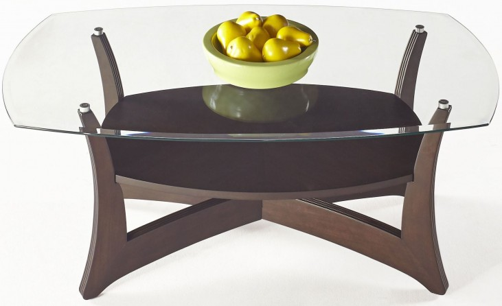 Abacoa Dark Walnut Rectangular Cocktail Table