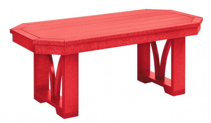 "St Tropez Red 42"" Rectangular Cocktail Table"