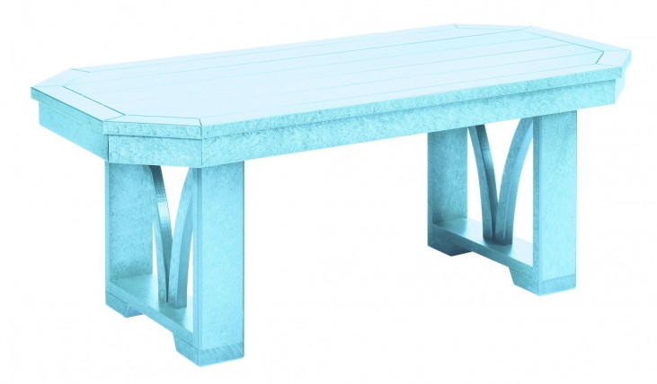 "St Tropez Aqua 42"" Rectangular Cocktail Table"