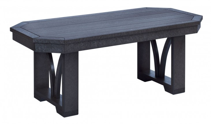"St Tropez Black 42"" Rectangular Cocktail Table"