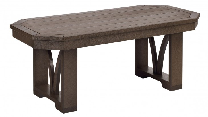 "St Tropez Chocolate 42"" Rectangular Cocktail Table"
