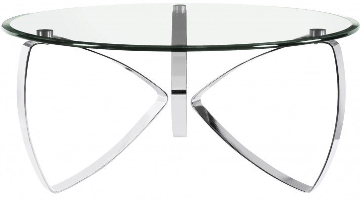 Nico Chrome Chromed Plated Round Cocktail Table
