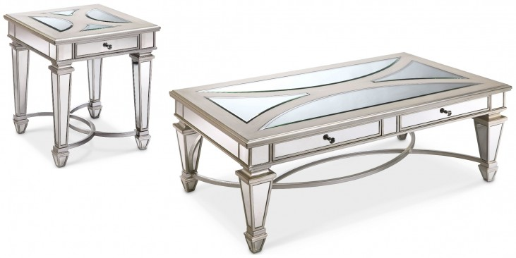 Novella Chalk Metal Occasional Table Set