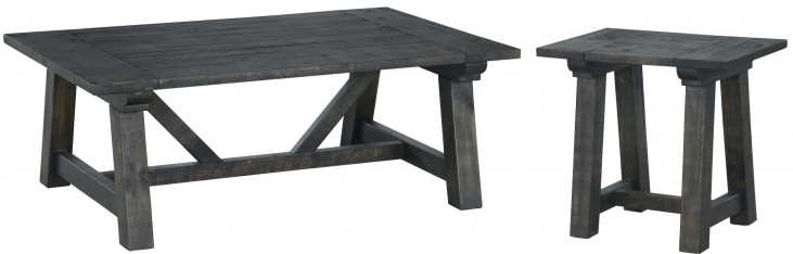 Bridgewater Weathered Charcoal Rectangular Occasional Table Set