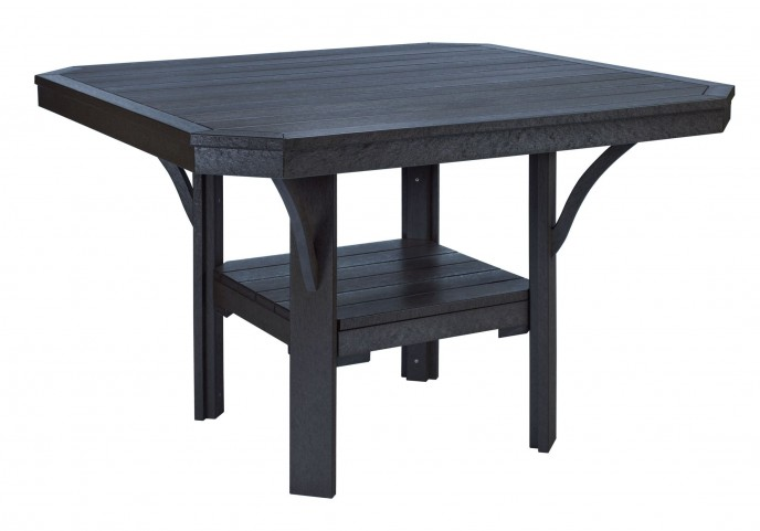 "St Tropez Black 45"" Square Dining Table"