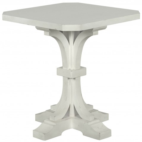 Hancock Park Vintage White Square Accent End Table