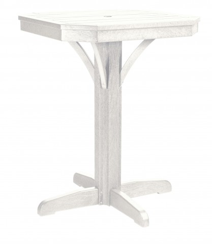 "St Tropez White 28"" Square Counter Pedestal Table"