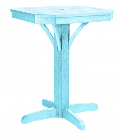 "St Tropez Aqua 28"" Square Counter Pedestal Table"