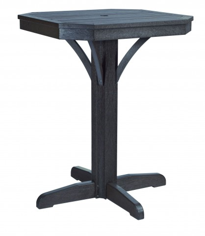 "St Tropez Black 28"" Square Counter Pedestal Table"