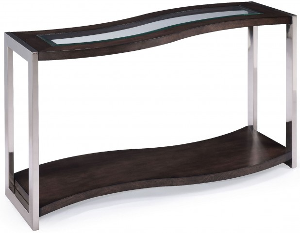 Lynx Graphite Wood Rectangular Sofa Table