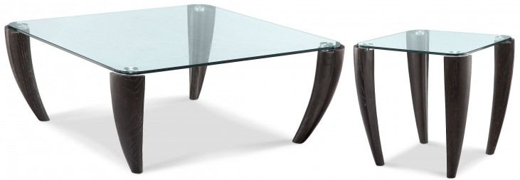 Ebony Midnight Square Occasional Table Set