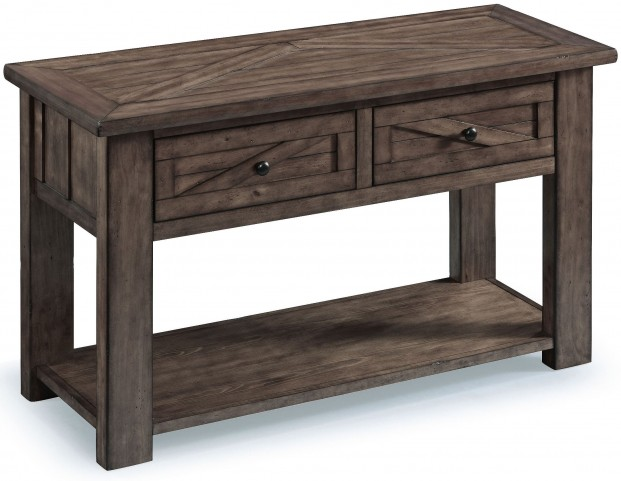 Garrett Weathered Charcoal Wood Rectangular Sofa Table