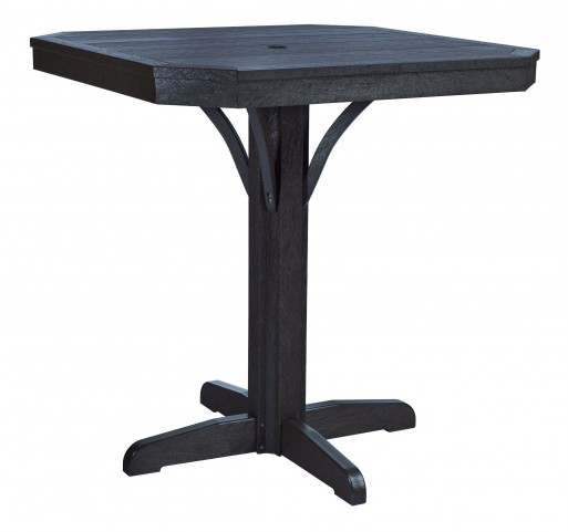 "St Tropez Black 35"" Square Counter Table"