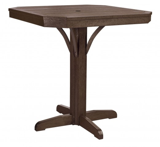 """St Tropez Chocolate 35"""" Square Counter Table"""