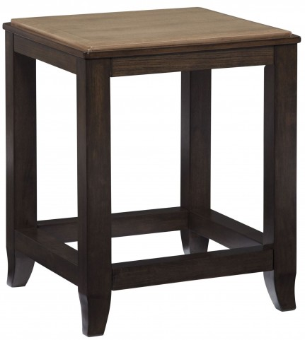 Mandoro Two-tone Brown Square End Table