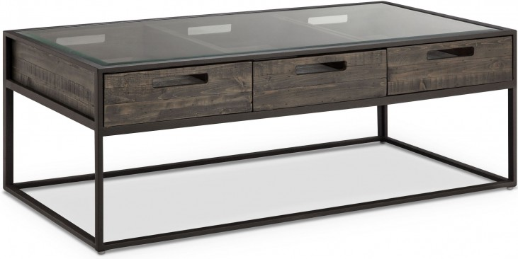 Claremont Weathered Charcoal Rectangular Cocktail Table