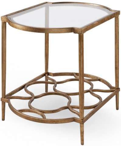 Bancroft Gold Leaf Rectangular End Table